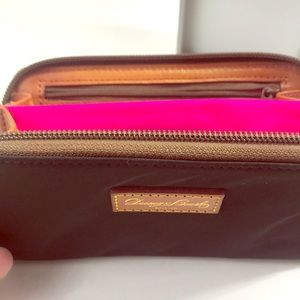 Dooney &Bourke black fabric and leather wallet